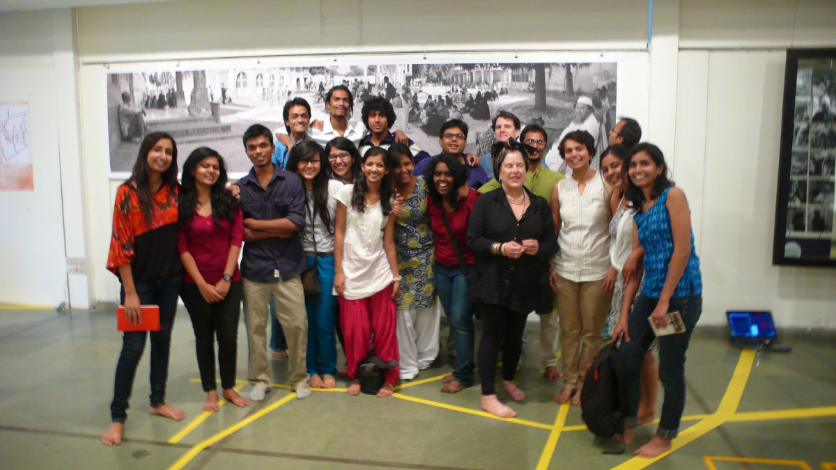 Installation team at the National Institute of Design (NID) in Ahmedabad, India