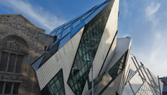 View of Royal Ontario Museum from corner of Bloor Street and Avenue Road