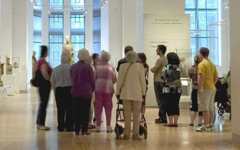 Guided Museum tours are offered daily. Visitors will be lead on a tour of the ROM filled with stories of the collections and galleries.