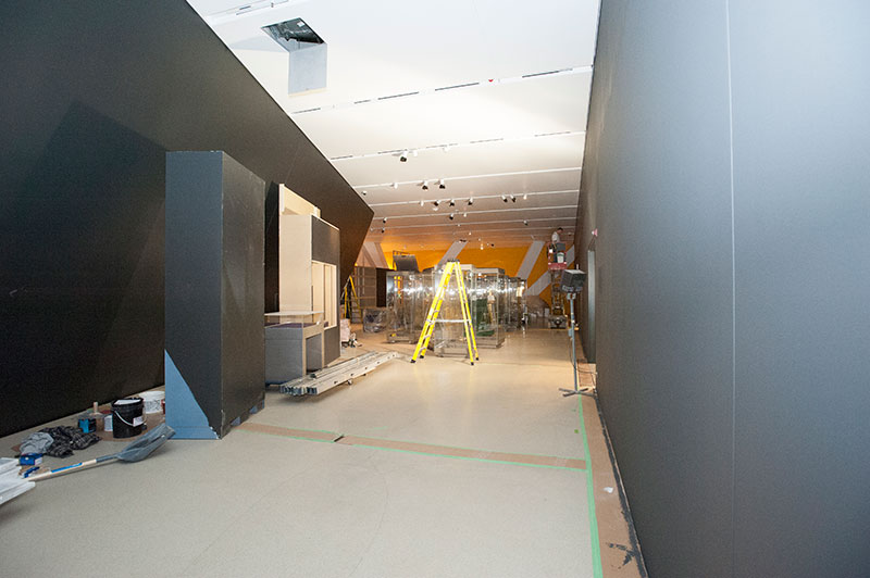 Photo of room under construction the Royal Ontario Museum