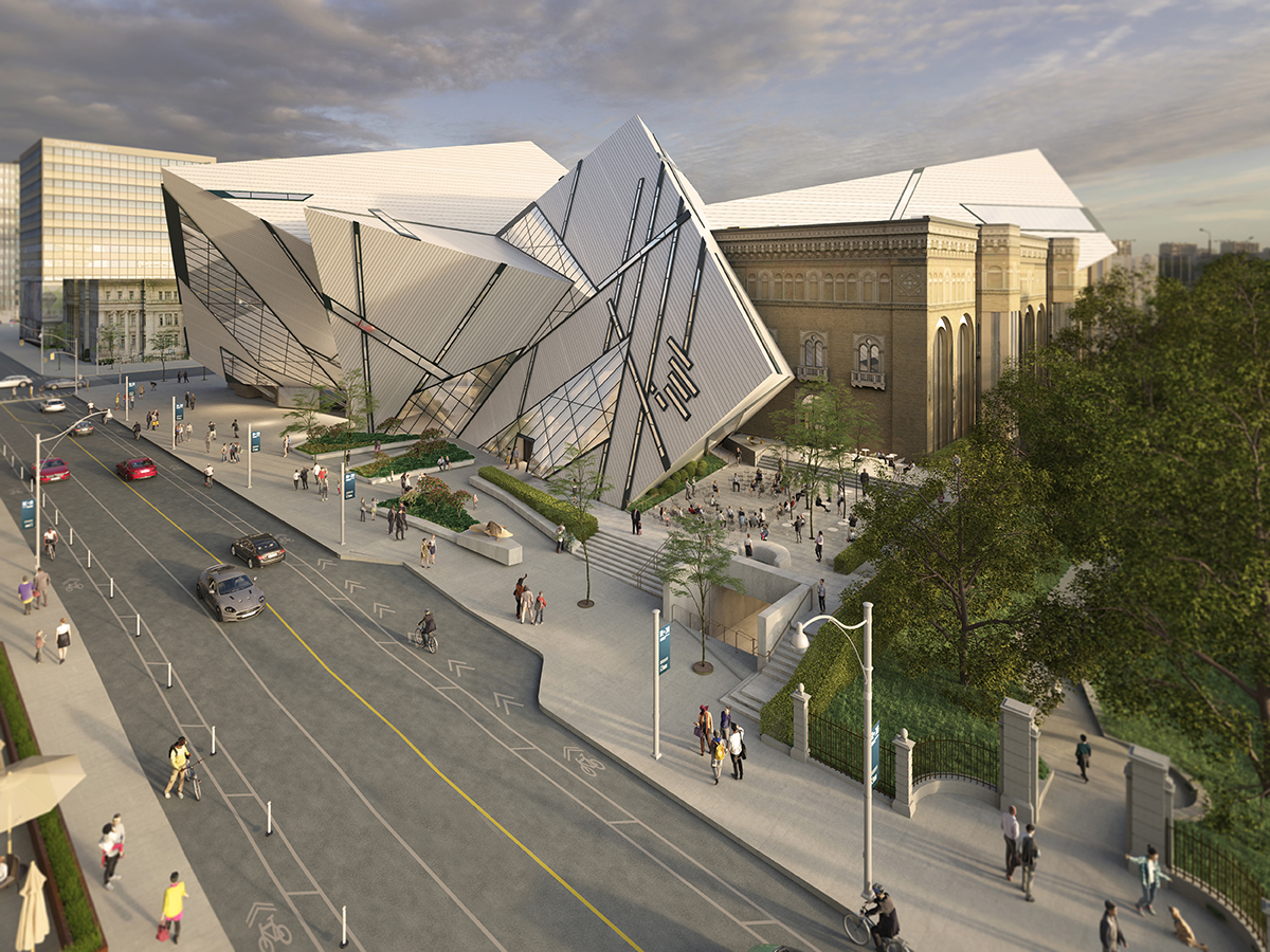 Rendering of the ROM outdoor space featuring a performance terrace
