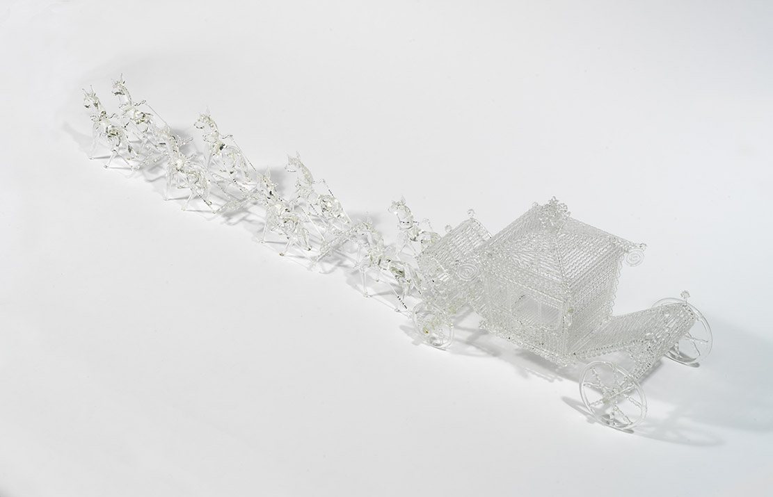 glass model of Queen Elizabeth's Coronation Coach