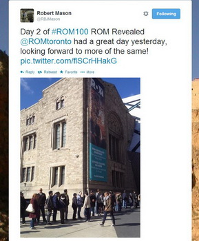 ROM100 Celebration Twitter picture of linup