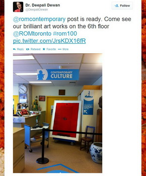 ROM100 Celebration Twitter picture of ROM contemporary culture art works