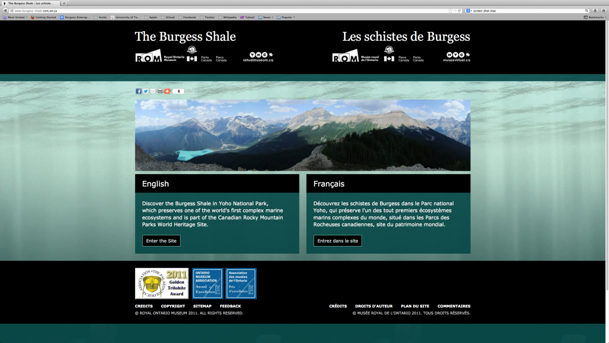 Screenshot of the Burgess Shall Virtual Museum website