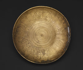 Nimrud bowl with Egyptian motifs Bronze 9th-8th century BC Nimrud (Kalhu), North West Palace. © The Trustees of the British Museum.