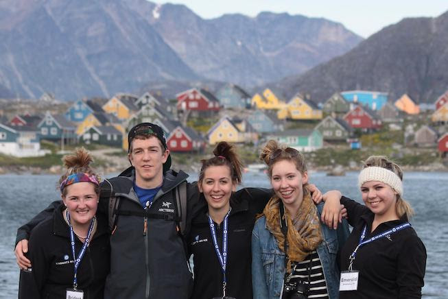 A photo of a group of high school students including the guest author during a 2011 Students On Ice expedition to the Arctic.