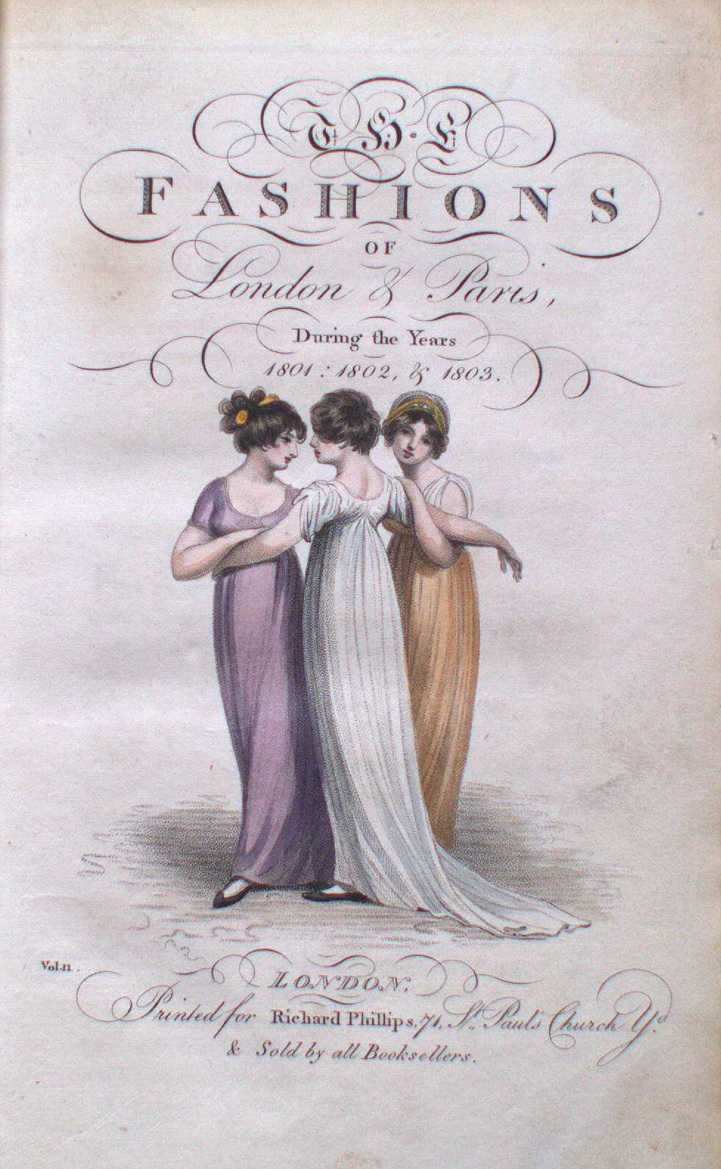 Fashions of London and Paris, title page