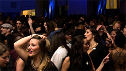 A crowded dance floor at the ROM's Friday Night Live.