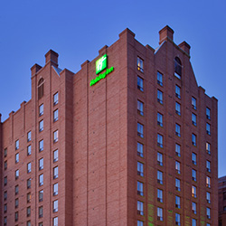 Exterior of the Holiday Inn hotel in downtown Toronto.