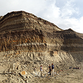 Photo of people standing in a quarry