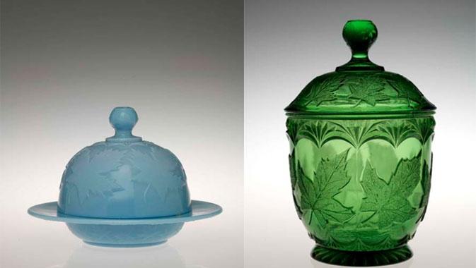 Maple leaf glass