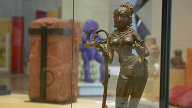 Yakshi, Karnataka and Decca, India. Copper alloy, Chalukya Period, 8th – 9th century AD.