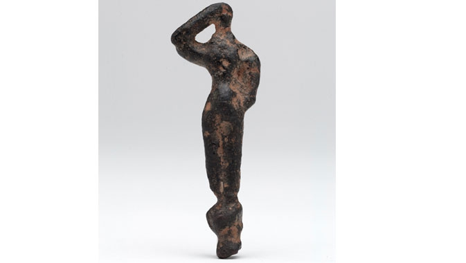 Small bronze male figurines were left as votive offerings by the Minoans.