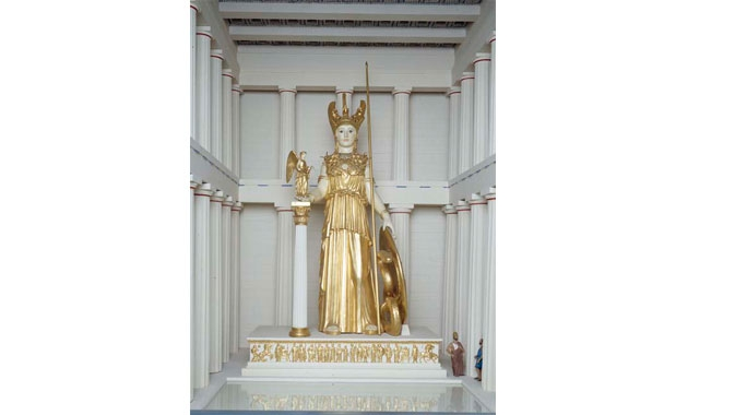 Model of the statue of Athena Parthenos.