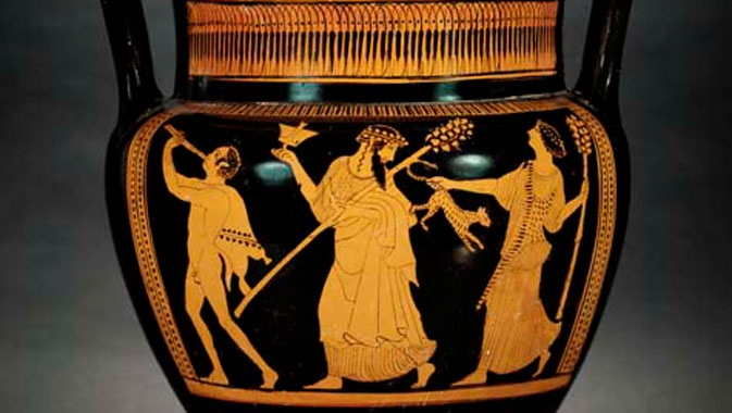 Detail of red-figure krater.