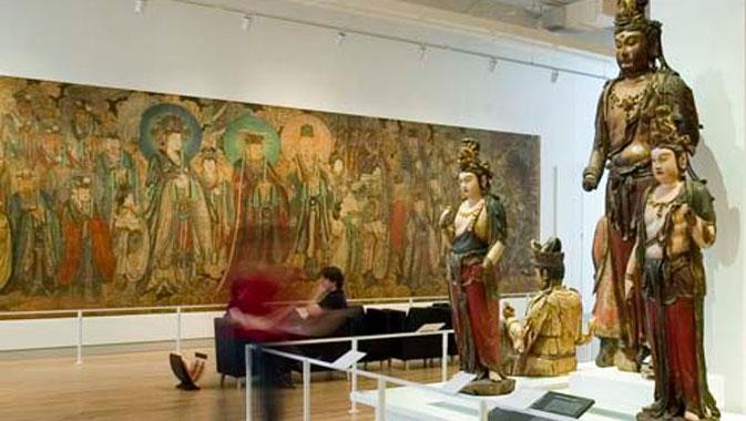 Autres murales Yuan, les deux fresques plus petites intitulées Peinture de la Cour céleste comptent parmi les plus beaux spécimens d'art taoïste hors de Chine.