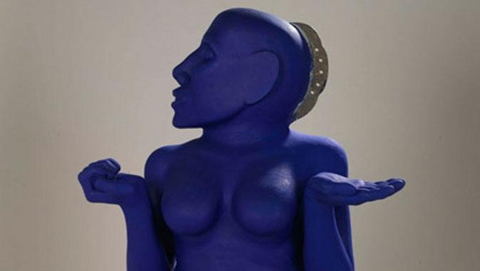 "Kunti Sculpture (""Blue Lady""), 1999. Artist: Navjot Altaf."