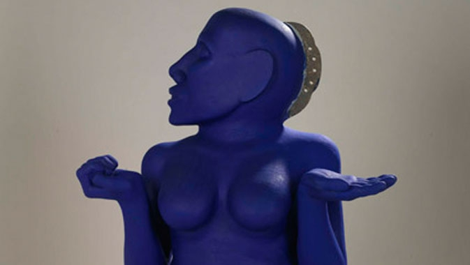 Kunti  ou « la déesse bleue », 1999. Artiste : Navjot Altaf