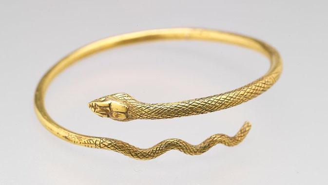 Bracelet-serpent en or, Empire romain d'Orient, Égypte, de 50 av. notre ère à l'an 50 de notre ère