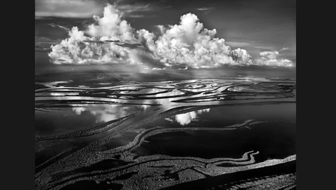 Les Anavilhanas, nom donné à quelque 350 îles boisées du Río Negro, constituent le plus vaste archipel intérieur du monde. Couvrant 1 000 kilomètres carrés de l'Amazonie, il commence à 80 kilomètres au nord-ouest de Manaus et s'étend sur 400 kilomètres environ en remontant le fleuve jusqu'à Barcelos. Amazonas, Brésil. 2009. © Sebastião Salgado. Avec l'aimable autorisation d'Amazonas images