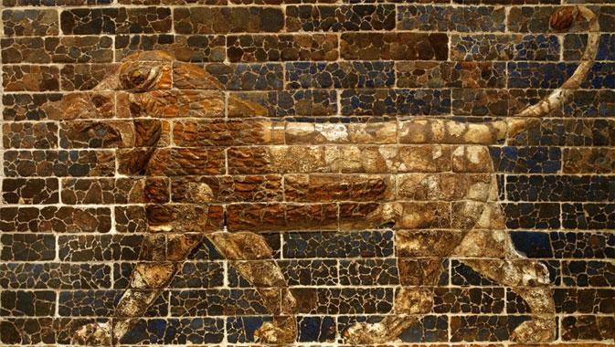 Striding Lion, Southern Citadel throne room facade, Babylon. c. 750-539 BCE. © Royal Ontario Museum.