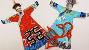 Deux modèles de robes impériales