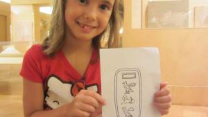 le nom Charlotte en hiéroglyphes entouré d'un cartouche