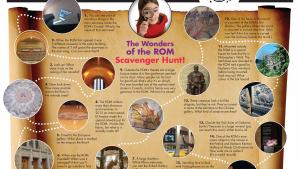 rom100 scavenger hunt royal ontario museum. Black Bedroom Furniture Sets. Home Design Ideas