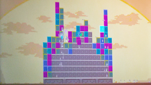 coloured blocks form a pyramid