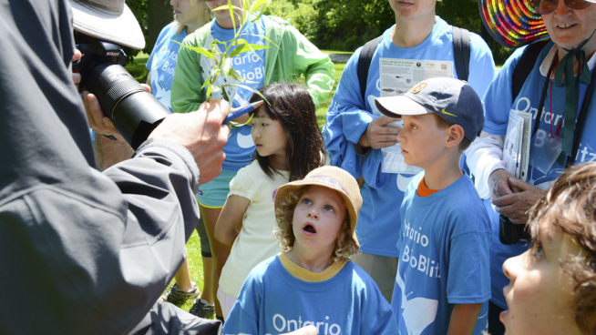 Durant l'excursion guidée, les enfants buvaient les paroles du guide. Photo: Anne-Sophie Blanc