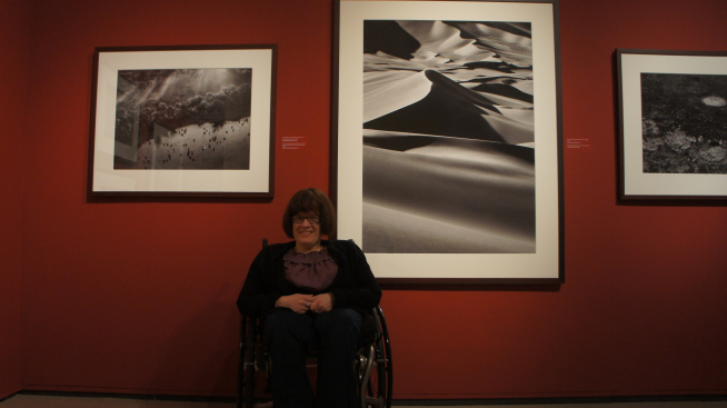 Alexis Pastuch takes in an exhibition at the ROM
