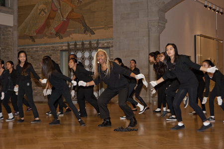Student dancers perform at the ROM
