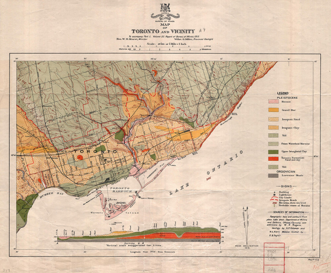 Geological Map of Toronto
