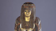 Detail of mummy Djedmaatesankh in ROM's collection