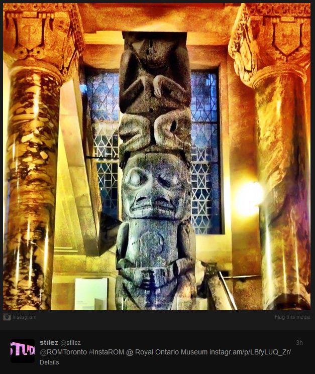 photographie #instaROM sur Instagram de l'utilisateur @stylez, tiré du site Web du Musée royal de l'Ontario