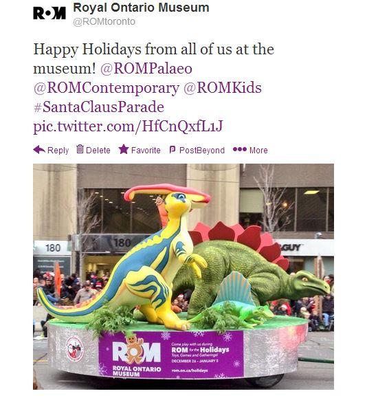 ROM Santa Claus parade float