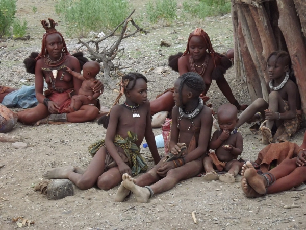 Women and children in the village of Ohungumure
