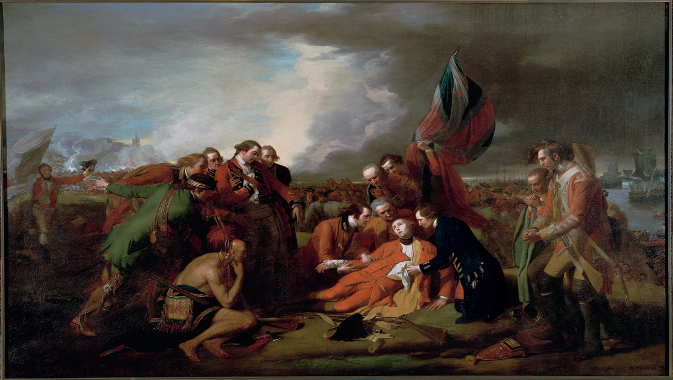 """The Death of General Wolfe"" by Benjamin West, 1776  © Royal Ontario Museum"