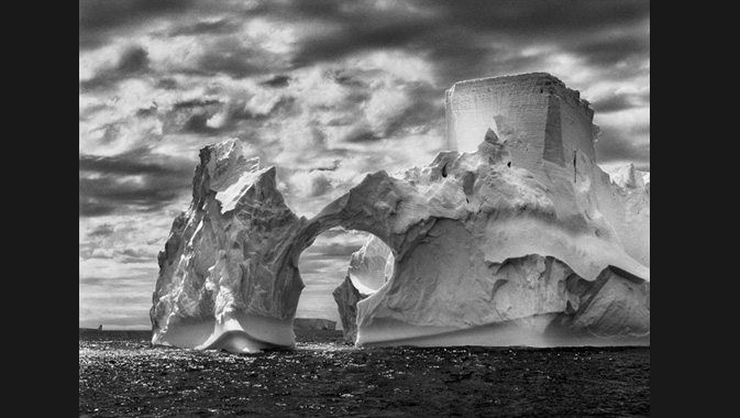 Iceberg between Paulet Island and the South Shetland Islands on the Weddell Sea. Antarctic Peninsula. 2005.  © Sebastião Salgado Courtesy of Amazonas images