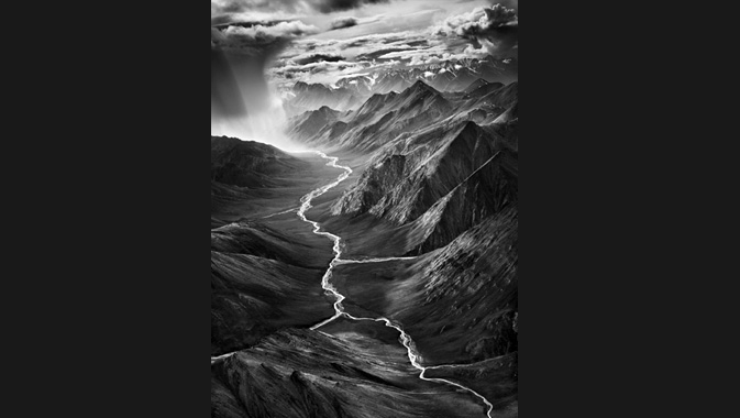 The eastern part of the Brooks Range, which rises to over 9,800 feet (3,000 meters).The Arctic National Wildlife Refuge. Alaska. USA. 2009.  © Sebastião Salgado Courtesy of Amazonas images