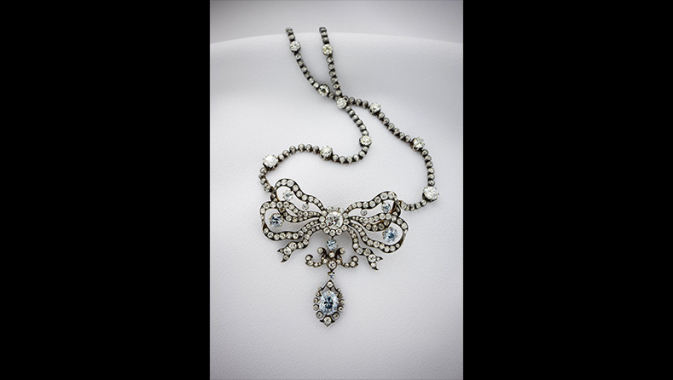 Cullinan Blue and White Diamond Necklace.