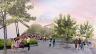 Esquisse de l'Esplanade du ROM après la revitalisation. Cabinet d'architectes Hariri Pontarini