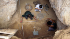 Excavating the Longyadong cave site in 1997