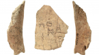 Oracle bones (inscribed bone), Shang Dynasty, China, 1400 - 1050 BCE, (960.237.2225, 960.237.542)