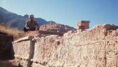 Nos premières fouilles ont révélé que les murs portaient de nombreuses décorations.