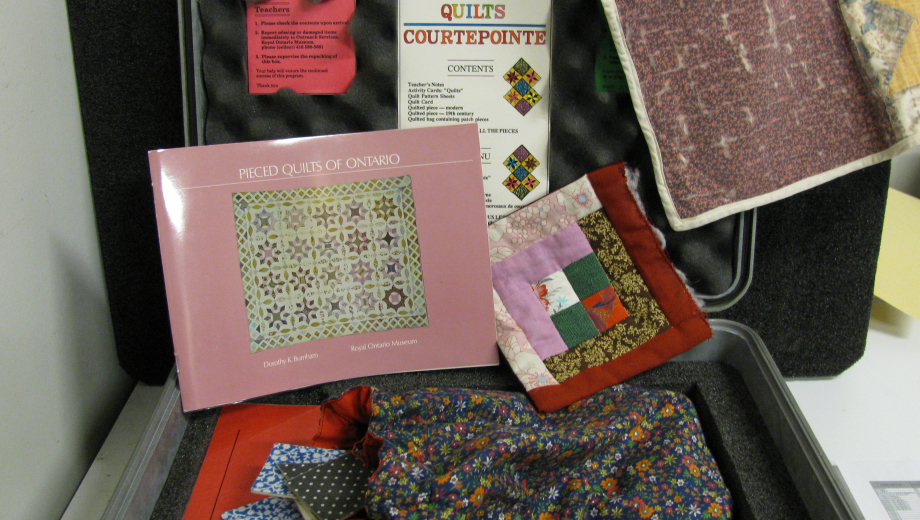 Inside the Quilts EduKit, available for schools to rent