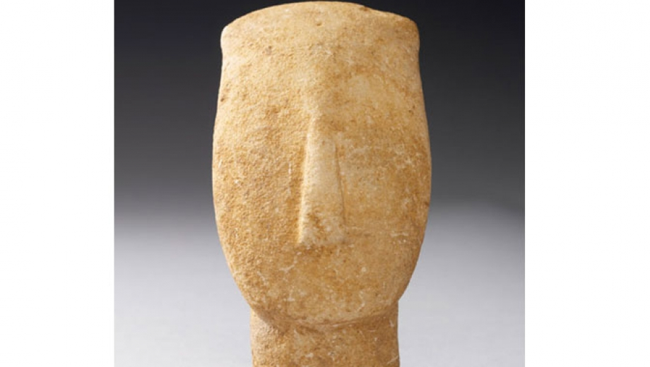 The Cycladic culture of the Neolithic period is known for its schematic figurines, made from local pure white marble