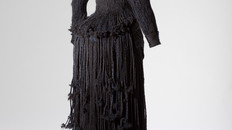 Full image of dress. View of back.