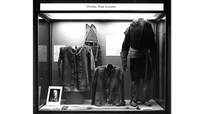 Archival image of the 1960s exhibition. Black and white